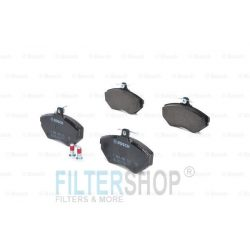 BOSCH 0986494021 Első fékbetét TELJES készlet féknyeregcsavarokkal Audit A4 1994-től 2000-ig, Volkswagen Passat 1996-tól 2000-ig