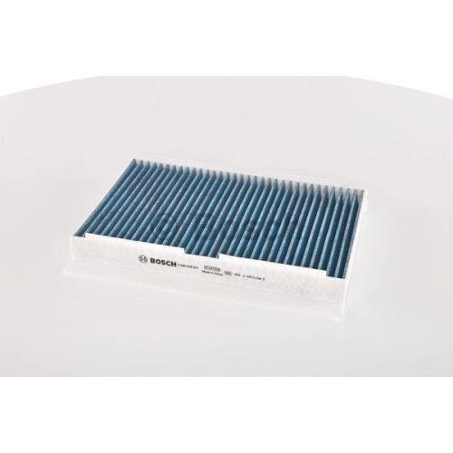 BOSCH 0986628501 Antibakteriális hatású aktívszenes pollenszűrő, finompor szűrő CITROEN C2, C3, C4, PEUGEOT 1007, 307, 308