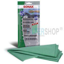 SONAX Mikroszálas Kendő üveg és sima felületekre, antisztatikus, nem bolyhosodik