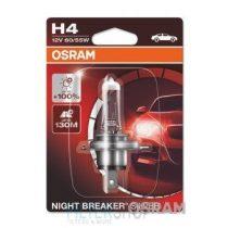 OSRAM NIGHT BREAKER® SILVER izzó H4 12V, 60/55W, aljzat P43t, +100% fényerő