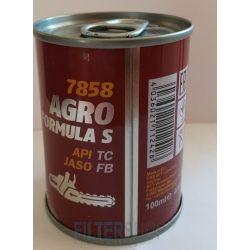 MANNOL 7858 Agro Formula S API TC 2T motorfűrész és kisgép olaj 0,1 Liter fémdobozos