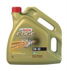 Castrol EDGE Turbo Diesel Titanium FST 5W-40 4 L Motorolaj AJÁNDÉK autó illatosítóval