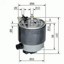 BOSCH F026402125 Gázolajszűrő, üzemanyagszűrő NISSAN QASHQAI, X TRAIL, RENAULT KOLEOS 1.5 DCi, 2.0 DCi