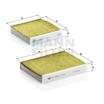 MANN Filter FP21000-2 FreciousPlus Polifenolos aktívszenes pollenszűrő Peugeot 207, 208, 2008, Citroen C3 II, DS3, C4 Cactus