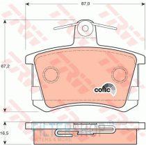 TRW GDB1163 Hátsó fékbetét TELJES készlet tartozékokkal Audi A4, A6, A8, Quattro