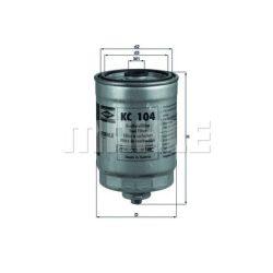MAHLE KC104 Gázolajszűrő, üzemanyagszűrő VOLVO S60, S80, V70, XC70, XC90 2.4 TD