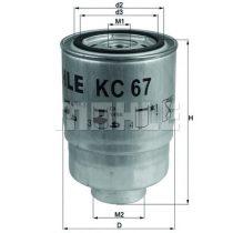 MAHLE KC67 Gázolajszűrő, üzemanyagszűrő FORD, NISSAN