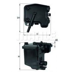 MAHLE KL431D Gázolajszűrő, üzemanyagszűrő 1.4-1.6 HDi
