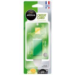 AROMA Car Credit Card autó illatosító Lemon