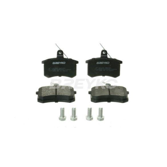 BREYKO Q1163 Hátsó fékbetét TELJES készlet 3M réteggel és tartozékokkal Audi A4, A6, A8, Quattro