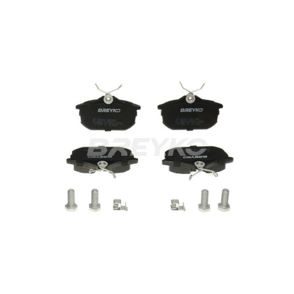 BREYKO Q1314 Hátsó fékbetét TELJES készlet 3M réteggel és tartozékokkal Mitsubishi Carisma, Colt, Space Star, Smart Forfour, Volvo S40, V40