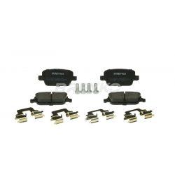 BREYKO Q1732 Hátsó fékbetét készlet 3M zajcsökkentő réteggel és tartozékokkal Ford Focus, Galaxy, Kuga, Mondeo, S-Max, Volvo S80, V70, XC70