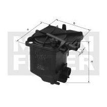 MANN Filter WK939/2z Gázolajszűrő, üzemanyagszűrő 1.4-1.6 HDi