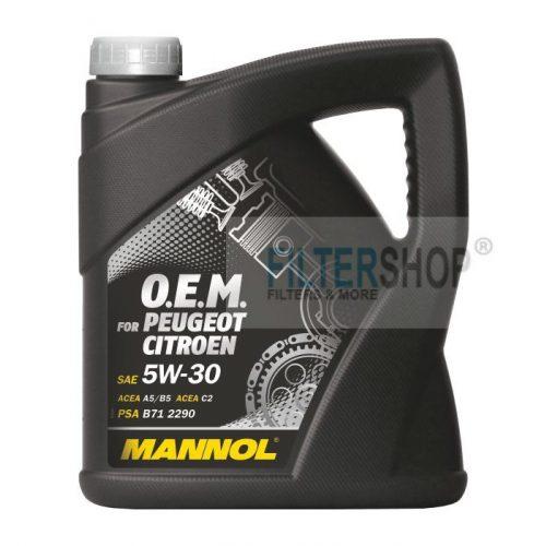 Motorolaj MANNOL O.E.M Peugeot Citroen 5w30 4 Liter