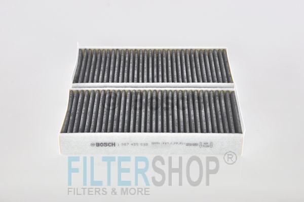 BOSCH 1987435538 Aktívszenes pollenszűrő BMW F45, F46, F48, I01, Mini F54, F55, F56, F57