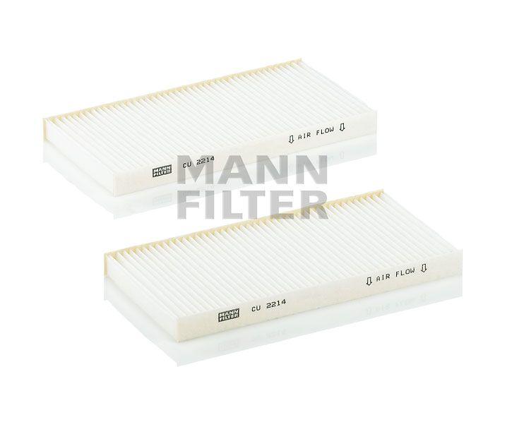 MANN Filter CU2214-2 Pollenszűrő HYUNDAI TUCSON, KIA SORENTO, SPORTAGE
