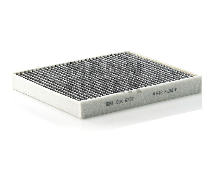 MANN Filter CUK2757 Aktívszenes pollenszűrő OPEL ASTRA G, ZAFIRA B