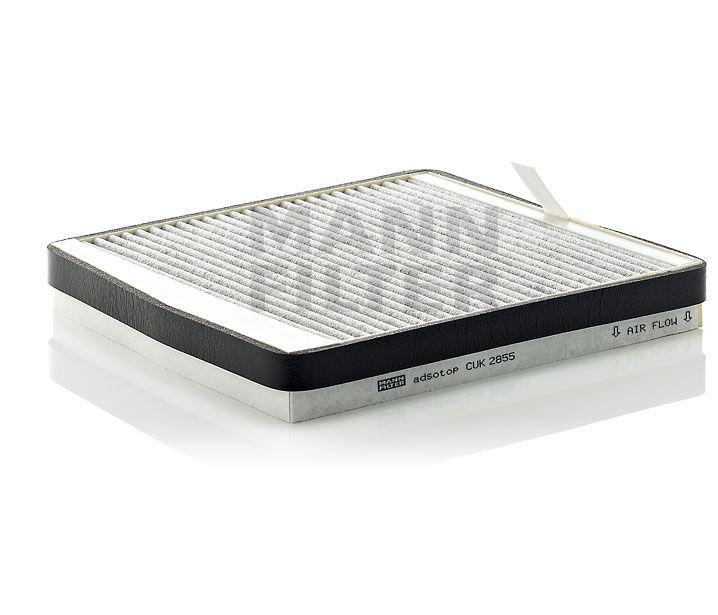 MANN Filter CUK2855 Aktívszenes pollenszűrő VOLVO S60, S70, S80, V70, XC70, XC90