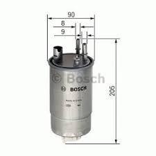 BOSCH F026402054 Gázolajszűrő, üzemanyagszűrő OPEL MERIVA 1.3 CDTi Z13DT, Z13DTJ, Y13DT
