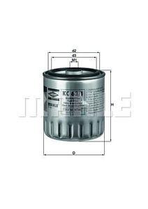 MAHLE KC63/1D Gázolajszűrő, üzemanyagszűrő  MERCEDES C, E, 190, G, S, SPRINTER, VITO, VARIO