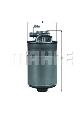 MAHLE KL154 Gázolajszűrő, üzemanyagszűrő AUDI A4, A6, A8, ALLROAD, SKODA SUPERB, VOLKSWAGEN PASSAT