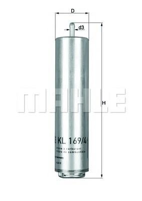 MAHLE KL169/4D Gázolajszűrő, üzemanyagszűrő BMW, MINI