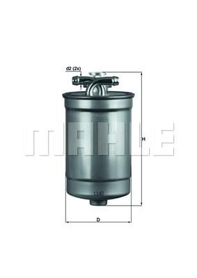 MAHLE KL554D Gázolajszűrő, üzemanyagszűrő AUDI A4, A6