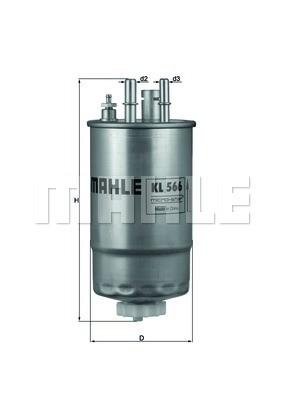 MAHLE KL566 Gázolajszűrő, üzemanyagszűrő FIAT FIORINO, QUBO, DOBLO, GRANDE PUNTO, 1.3 MJTD