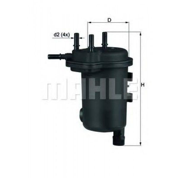 MAHLE KL600D Gázolajszűrő, üzemanyagszűrő Dacia Logan, Renault Clio, Kangoo, Thalia 1.5 DCi