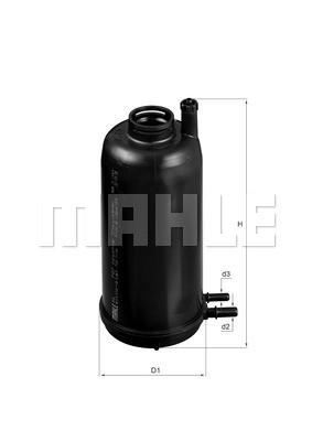 MAHLE KL707 Gázolajszűrő, üzemanyagszűrő IVECO DAILY - UFI rendszer