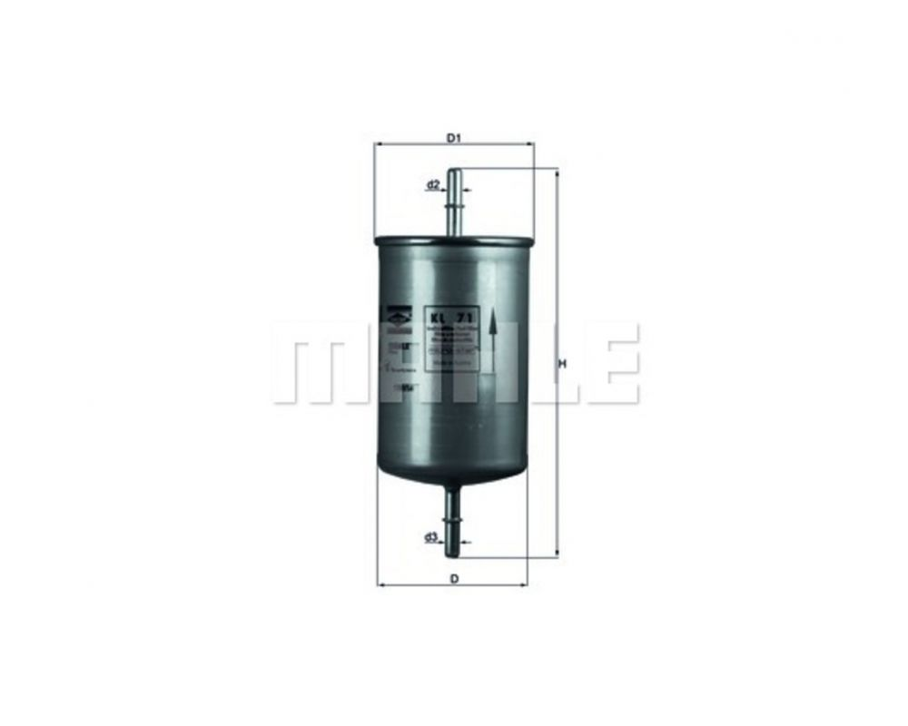 MAHLE KL71 Benzinszűrő, üzemanyagszűrő FORD, VOLVO