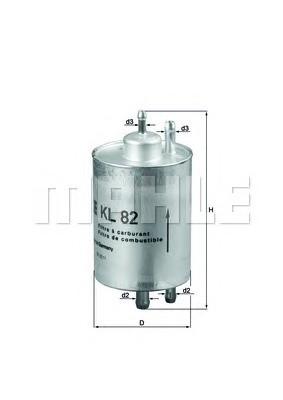 MAHLE KL82 Benzinszűrő, üzemanyagszűrő  MERCEDES C, CL, CLK, CLC, E, G, S, SL, SLK