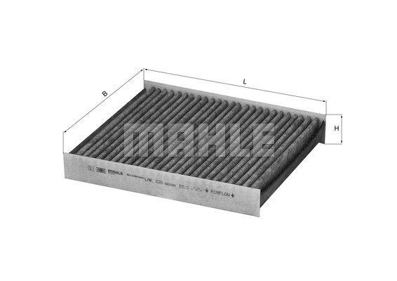 MAHLE LAK220 Aktívszenes pollenszűrő  FORD FOCUS II, VOLVO C30, S40, V50, C70