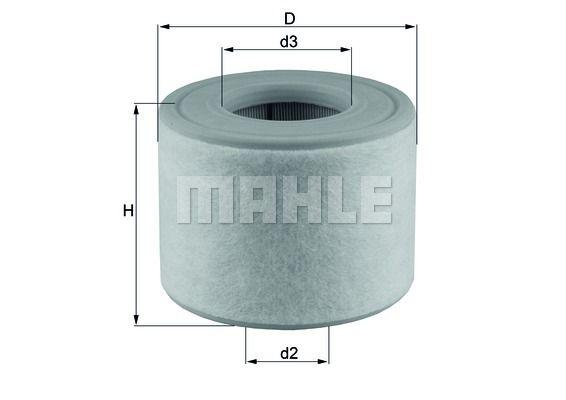 MAHLE LX2607/2 Levegőszűrő Audi A6, A7