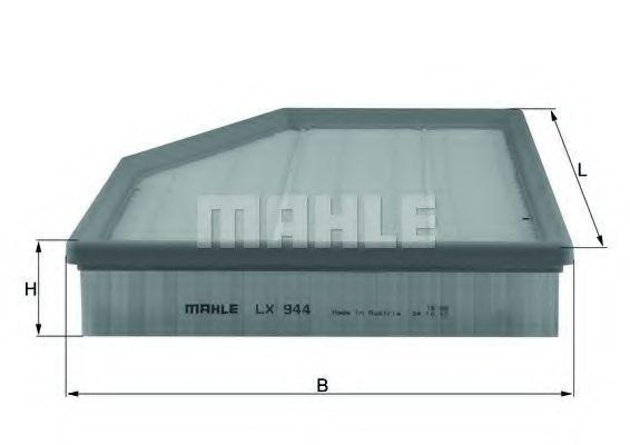 MAHLE LX944 Levegőszűrő BMW 5, 6, Z4