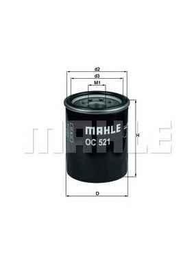 MAHLE OC521 Olajszűrő Hyundai, Renault, Mazda, Kia, Honda, Nissan, Subaru