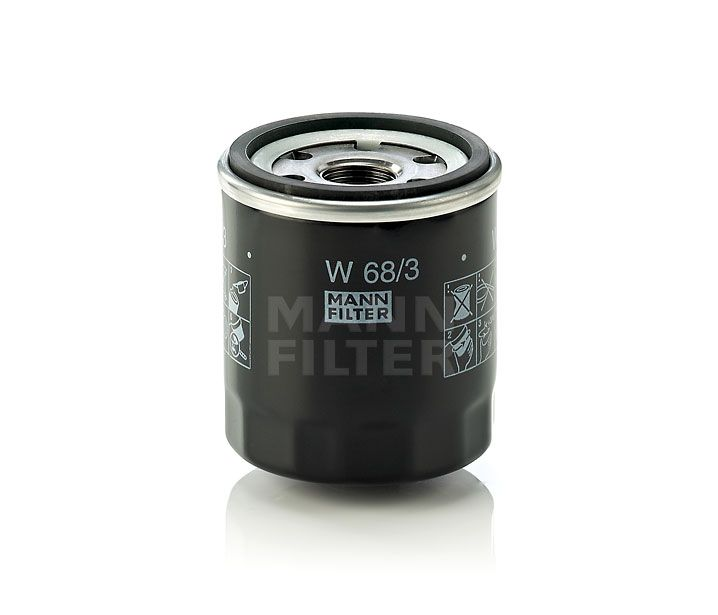 MANN Filter W68/3 Olajszűrő CITROEN, FIAT, PEUGEOT, SUZUKI, TOYOTA