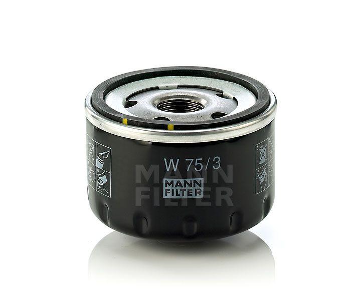 MANN Filter W75/3 Olajszűrő Alfa Romeo, Dacia, Renault, Nissan, Mitsubishi, Opel, Suzuki