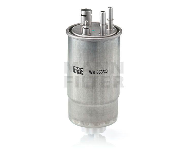 MANN Filter WK853/20 Gázolajszűrő, üzemanyagszűrő FIAT FIORINO, QUBO, DOBLO, GRANDE PUNTO, 1.3 MJTD