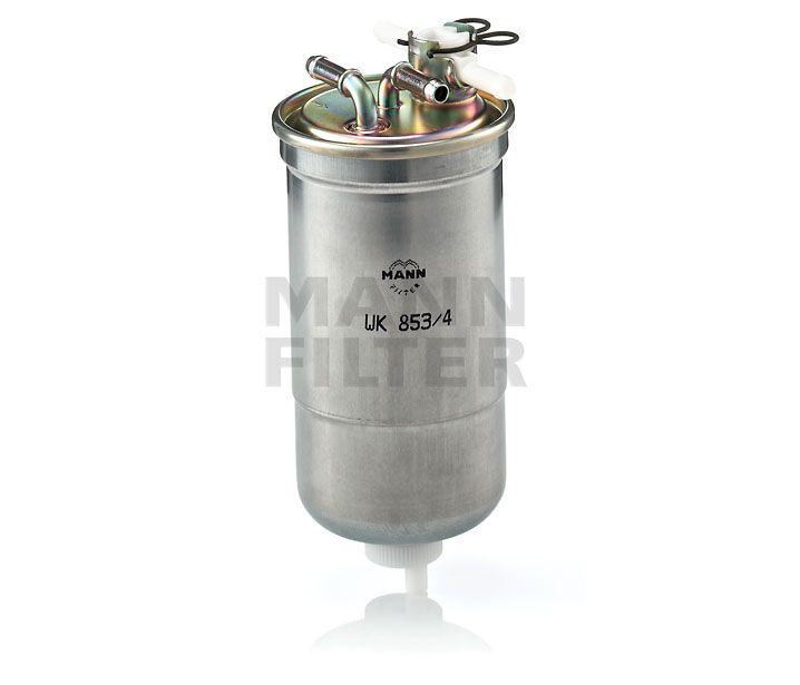MANN Filter WK853/4 Gázolajszűrő, üzemanyagszűrő AUDI A3, A4, A6, SEAT LEON, TOLEDO, SKODA OCTAVIA, SUPERB, VOLKSWAGEN BORA, GOLF, LT, PASSAT, NEW BEETLE