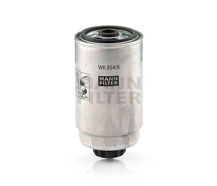 MANN Filter WK854/6 Gázolajszűrő, üzemanyagszűrő ALFA ROMEO, 147, 156, 166, CITROEN JUMPER, FIAT BRAVA, BRAVO, DOBLO, DUCATO, MAREA, MULTIPLA, STILO, LANCIA LYBRA, THESIS, PEUGEOT BOXER