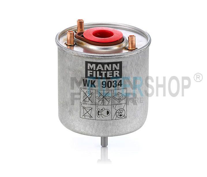 MANN Filter WK9034z Gázolajszűrő, üzemanyagszűrő 1.4-1.6 HDi CITROEN BERLINGO III, C3 PICASSO, C3 II, C4 II, C4 PICASSO, C5 II, DS3, DS4, PEUGEOT 206+, 207, 208, 308, 508, PARTNER III