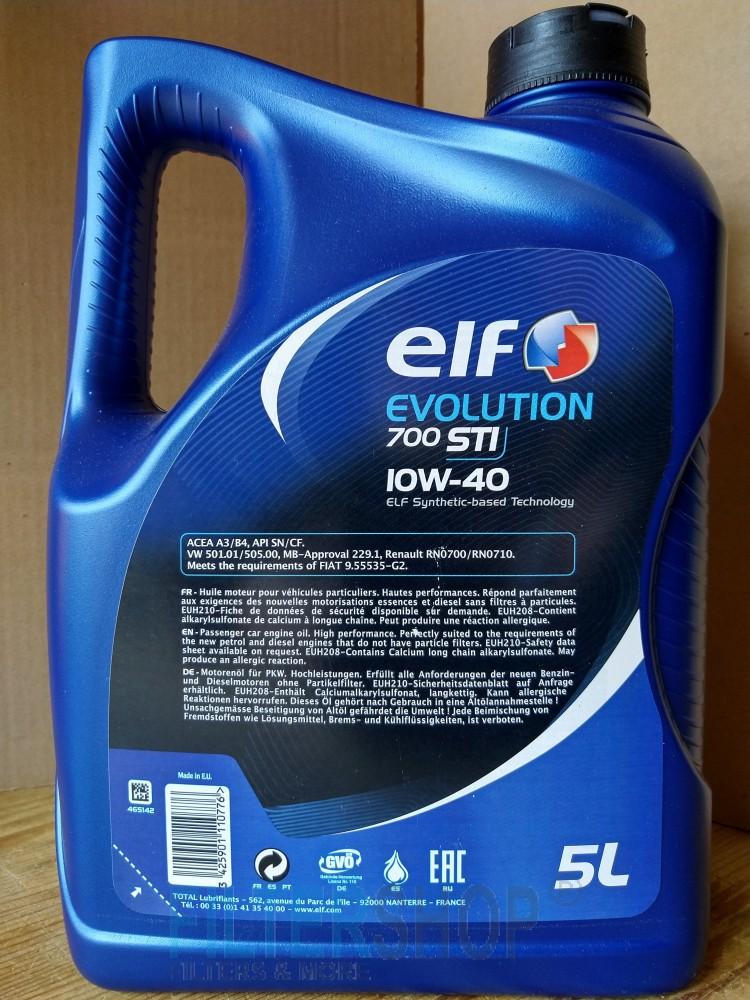 Motorolaj Elf Evolution 700 STI 10w40 5 Liter