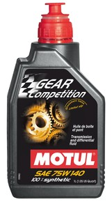 Motul GEAR Competition 75W140 teljesen szintetikus hajtóműolaj 1 Liter